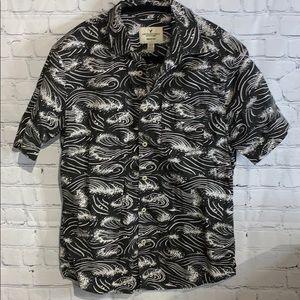 American Eagle Men's Button-Down Shirt Size XS